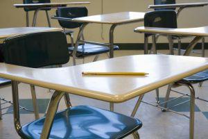 An empty classroom