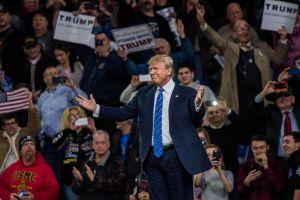 Donald Trump rally in Lowell Massachussetts