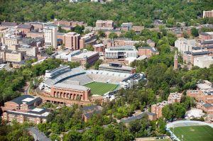 Aerial View of the University North Carolina Campus