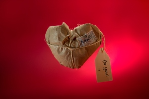 Heart shaped package