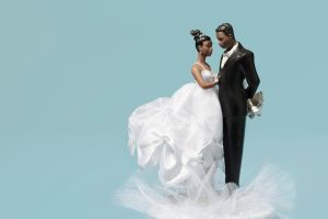 Bride and Groom Wedding Cake Decoration