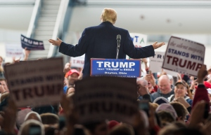 Presidential Candidate Donald Trump Campaign Rally in Vandalia, Ohio