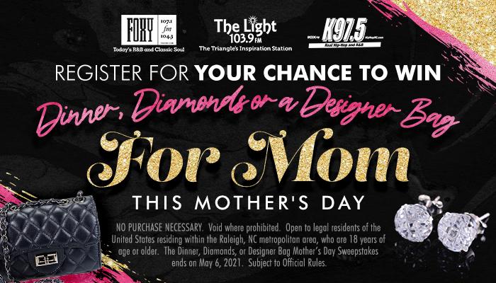 Local: Diamonds, Dinner or Designer Bag Contest_RD Raleigh_April 2021
